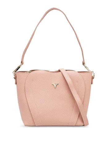 Verchini pink Elegant Sling Bag D1D2CAC312FD12GS_1