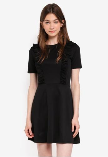 Something Borrowed black Fit & Flare Ruffle Knit Dress 98477AA1A2E9CFGS_1