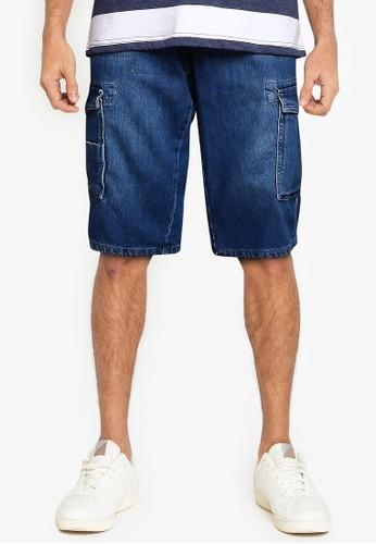 LC Waikiki blue Regular Fit Jean Shorts DDF53AADC2CD6AGS_1