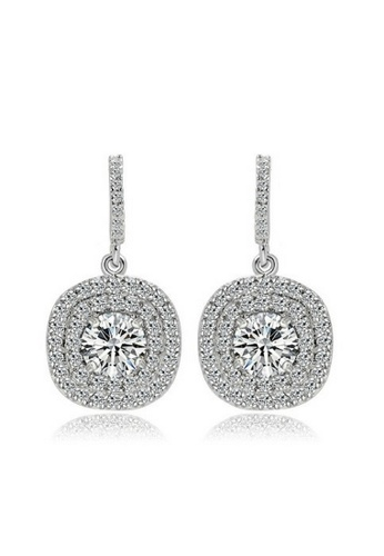 Vivere Rosse silver Autumn Breeze Micropave Earrings (Crystal) VI014AC98LOJMY_1