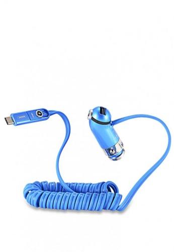 Stylebox blue REMAX RCC211 5V 2.4A Output Smart Cutie Car Charger 40E8FAC1611CA6GS_1
