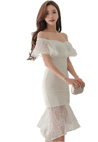0473c2a088f0 Sunnydaysweety white 2018 New White Lace Off Shoulder One Piece Dress  CA031422 9B069AADC57153GS 1