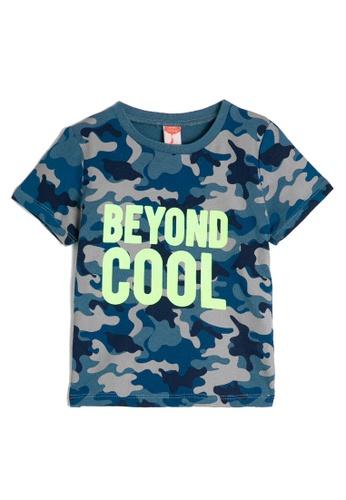 KOTON blue Short Sleeve T-Shirt 9262BKA118D5AEGS_1