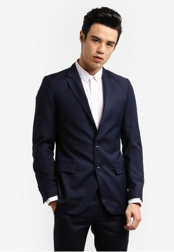ZALORA navy Slim Fit Formal Blazer D809FZZ72393EEGS_1