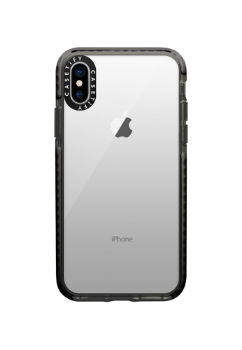 Casetify black Impact Protective Clear Case for iPhone XS/ iPhone X – Black 29B41ACF6D2C29GS_1