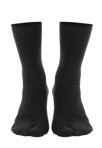 Hamlin black Hamlin Nercyla Kaos Kaki Wanita Toe Socks Two Tone Casual Footwear Material Spandex ORIGINAL 82D65AA7AC087EGS_1