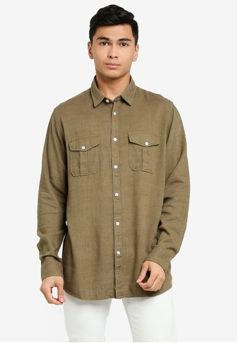 Brave Soul brown Long Sleeve Button Shirt 96AB5AAC7EB72BGS_1