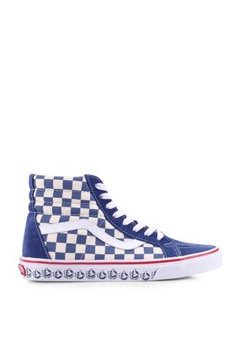 Vans Neon Sk8 Hi Reissue Shoes (Neon Leather) Dress Blues