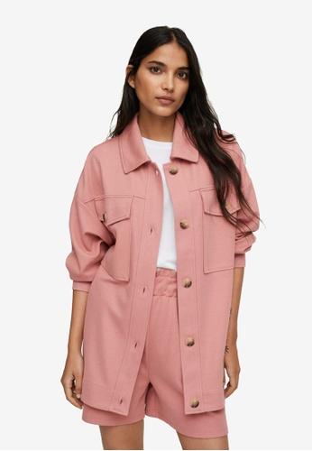 Mango pink Chest-Pocket Cotton Overshirt E9B95AAD71D10CGS_1