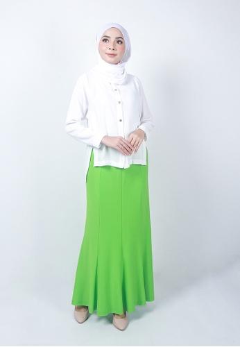 Ladies Jeans green Muslimah Panel Skirt CF4ECAA86E29C9GS_1