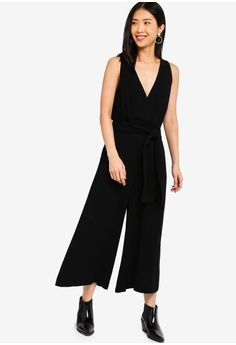 9030a8d8fa7 ... RM 489.30 Sizes 6 8 10 12 · French Connection black Bessie Crepe  Sleeveless Jumpsuit 7ED2EAABA3378FGS 1