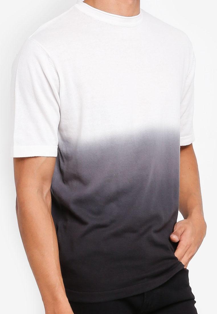 Man MANGO Shirt Cotton White T Ombre AqU8n4I