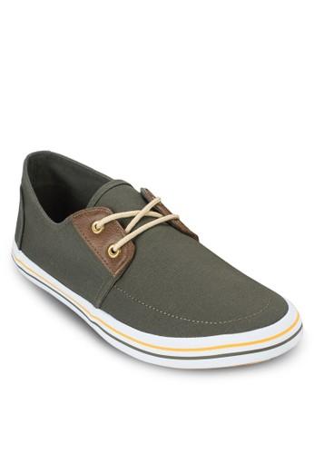Norman 條紋繫帶運動鞋, 鞋,esprit 內衣 休閒鞋