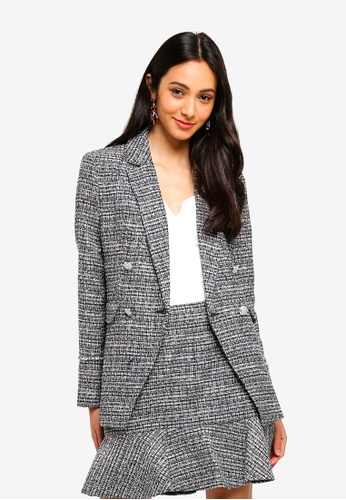 Forever New black Kate Boucle Blazer A60C5AA10D07CBGS_1