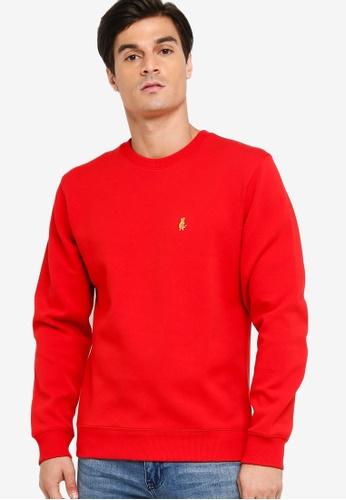 Calvin Klein red Ad-CNY Cotton Pullover - Calvin Klein Jeans C270BAA2E833EDGS_1