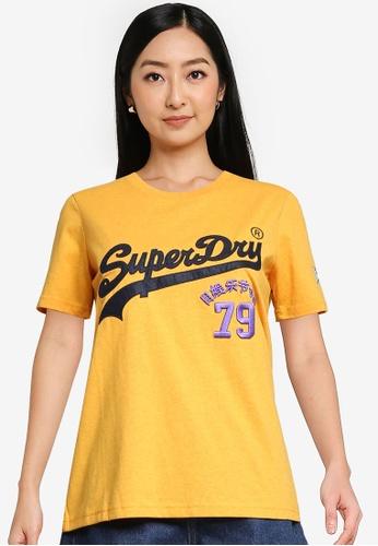 Superdry 黃色 Vintage Logo Source T恤 - Original & Vintage AB145AAF400CB8GS_1