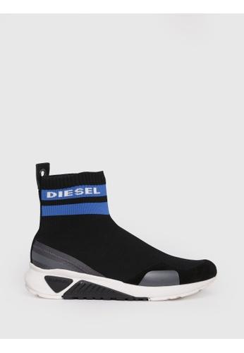 Diesel black S-Kb Sock Slip On Shoes 83E5DSH5EB2717GS_1