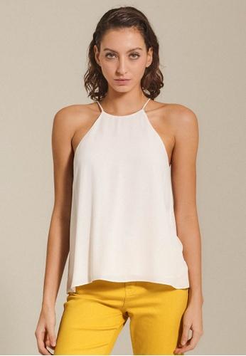 Dressing Paula white Chiffon Halter Top 486D9AA4B15333GS_1