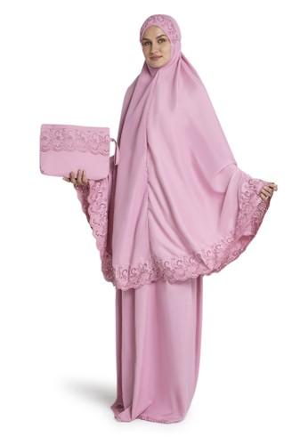 Evernoon pink Kiera Mukena Pasteleena Jumbo Berenda Motif Polos Wanita Fahionable – Rose A5AA5AAD98D29EGS_1