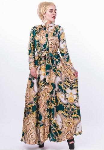 Persian white and green and gold FaraPersian - Style 18 DC083AA077A93CGS_1