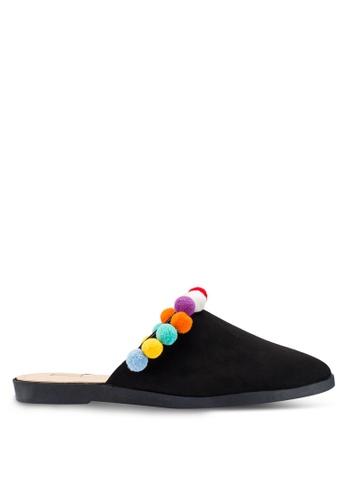 Berrybenka 黑色 質感穆勒鞋 9678DSH4E2A75CGS_1