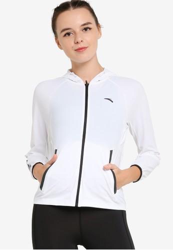 Anta white Running Knit Track Top 374DBAA64253F5GS_1