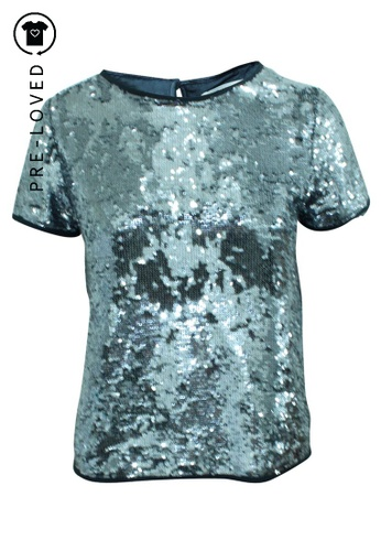 Zadig & Voltaire silver Pre-Loved zadig & voltaire Sequins Top 46104AA52AFF1CGS_1