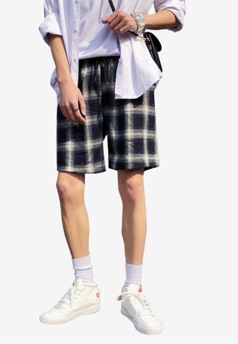 hk-ehunter multi Men Plaid Shorts 3830DAA91F12A8GS_1