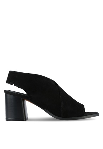 TOPSHOP black NOA Suede Sandals TO412SH0ROVTMY_1