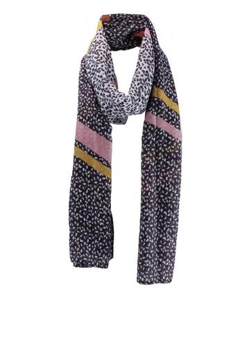 Dorothy Perkins multi Multi Colour Patterned Diagonal Stripe Scarf 905D1AC773641FGS_1