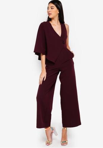 Lavish Alice purple Draped Sleeve Wide Leg Jumpsuit 0A188AA2E1C566GS_1