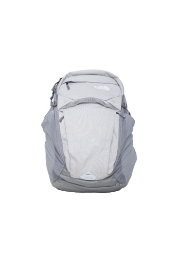 The North Face grey The North Face Unisex's Router Backpack High Rise Grey Light Heather and Navy -40L B9541AC65F74DCGS_1