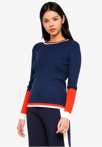 ESPRIT navy Multi Colour Pullover BEF30AA4455FEBGS_1