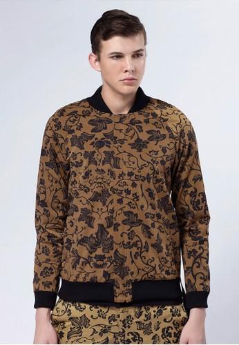 Lifesprit 內衣e8 x Daniel Wong。圖騰夾克外套-03667-棕色, 服飾, 外套