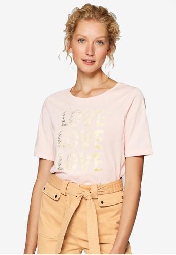 ESPRIT pink Back Graphic Short Sleeve T-Shirt EAC80AA6AA90DEGS_1
