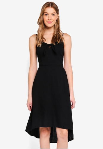 Hollister black Tie Front Midi Dress 12C31AA25C9516GS_1