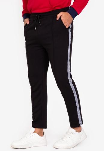 ZALORA BASICS black Side Trim Tailored Jogger Pants 3CA2CAA7AA92A3GS_1