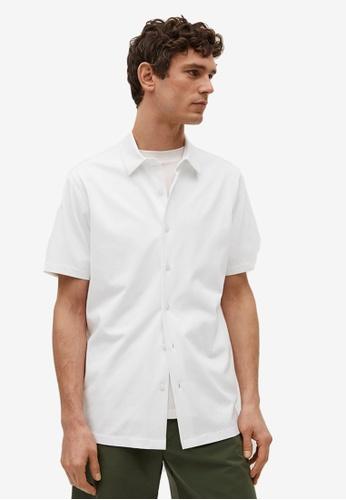 MANGO Man white Technical Cotton Regular-Fit Shirt 0FF26AAA415DDAGS_1