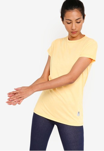 UniqTee yellow Slim Crew Neck Tee EE586AAACA0D9AGS_1