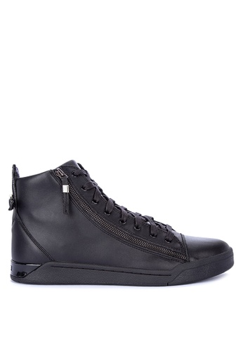 Diesel black Tempus S-Diamzip In Sneakers D0549SHBC020E7GS_1