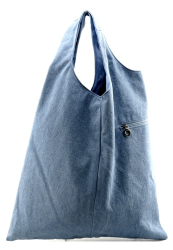 Esther Accessories blue Washed Denim Tote ES153AC70FTTHK_1