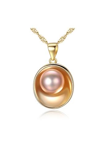 SUNRAIS gold Premium Color Stone Gold Letter Necklace 9346FAC20C38C0GS_1