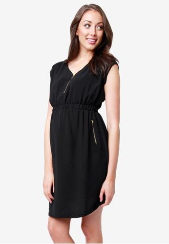0d0ed764395 Ripe Maternity black Maternity Belle Nursing Tunic Dress 20C23AAC48D180GS 1
