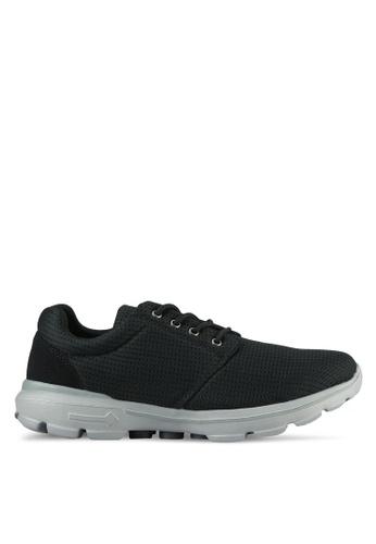 UniqTee black Lightweight Lace Up Sport Sneakers UN097SH0S21DMY_1
