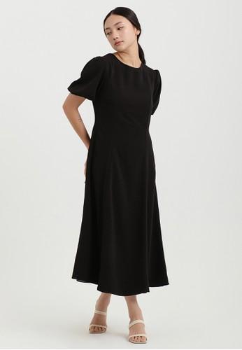 Cloth Inc black Gemma Puff Sleeve Dress in Black C2493AAC51A87DGS_1
