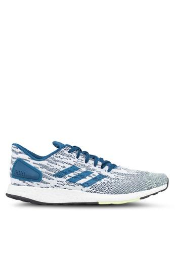 adidas white and blue and multi adidas pureboost dpr B4E56SHA40C748GS_1