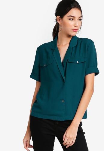 ZALORA green Resort Shirt 76F2EAAC10C6AAGS_1