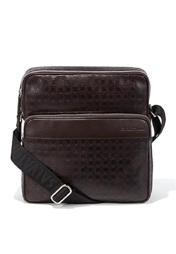 Salvatore Ferragamo brown SALVATORE FERRAGAMO GANCIO MESSENGER CROSSBODY F2C64ACD2CDC0EGS_1