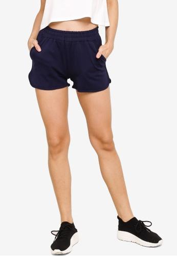 UniqTee navy Cotton Drawstring Shorts F1C84AA055C33DGS_1