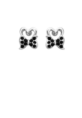 Glamorousky black Lovely Ribbon Earrings with Black Austrian Element Crystal 8231AACB7B4F95GS_1